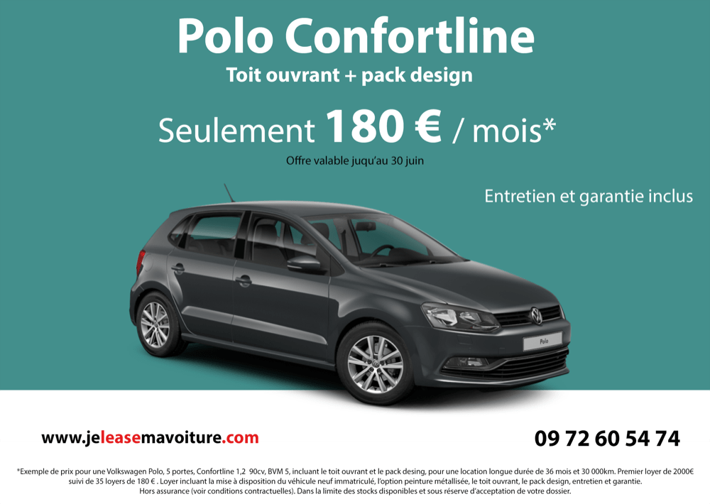 180 mois leasing volkswagen polo. Black Bedroom Furniture Sets. Home Design Ideas