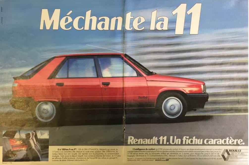 Publicité Renault 11 mechante la 11 1985