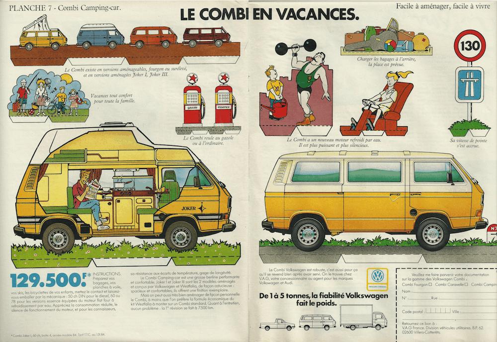 Pub du Combi Volkswagen de 1984